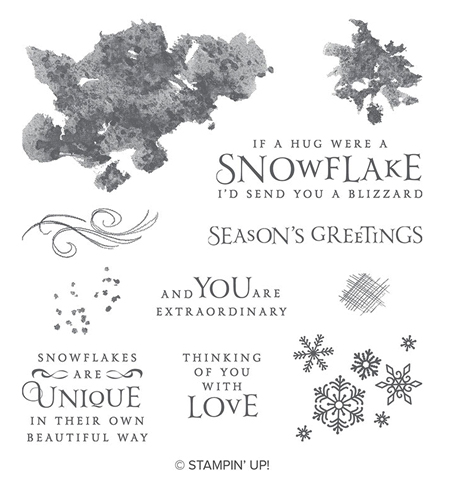 Stampin' Up! Beautiful Blizzard stamp set from Stampin' Up!  #stampinup #handmade #cardmaking #stamping