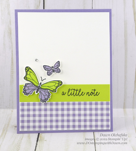 Easy Stampin' Up! Butterfly Gala Bundle card by Dawn Olchefske #dostamping #howdshedothat #stampinup #handmade #diy #cardmaking #stamping #papercrafting