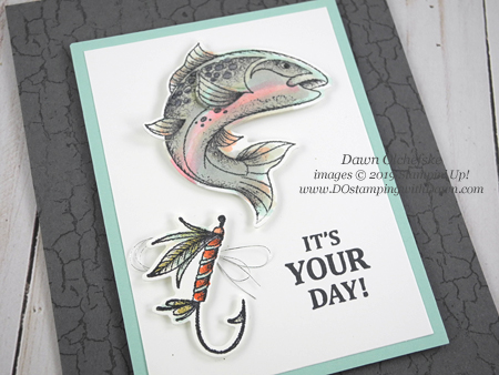 Stampin' Up! new Catch of the Day Bundle card by Dawn Olchefske #dostamping #howdshedothat #stampinup #handmade #cardmaking #stamping #papercrafting #masculinecards #birthdaycards
