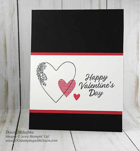 Stampin' Up! quick & cute Meant to Be Valentine's Day cards by Dawn Olchefske #dostamping #howdshedothat #stampinup #handmade #cardmaking #papercrafting #simpingstamping #meanttobe #valentinesdaycard