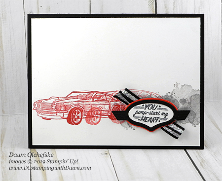 Learn how to do Motion Stamping with Stampin' Up!'s Geared Up Garage by Dawn Olchefske #dostamping #howdshedothat #stampinup #handmade #cardmaking #stamping #papercrafting#masculinecards