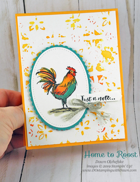 Sale-a-bration Home to Roost card by Dawn Olchefske #dostamping #howdshedothat #stampinup #handmade #cardmaking #stamping #papercrafting