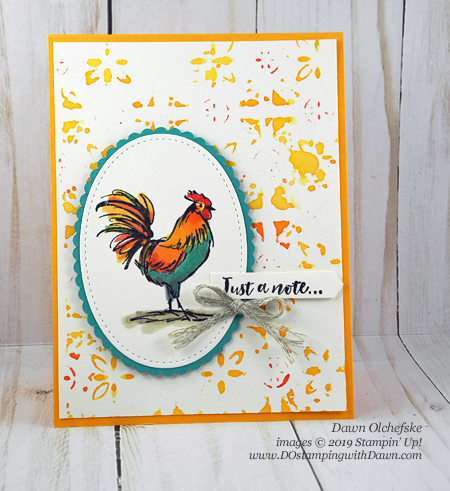 Sale-a-Bration Home To Roost, Texture Impressions Stamping card by Dawn Olchefske #dostamping #howdshedothat #stampinup #handmade #cardmaking #stamping #papercrafting #stampingtechniques