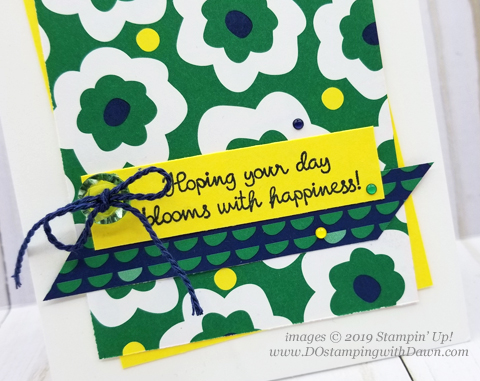 Stampin' Up! Happiness Blooms Suite shared by Dawn Olchefske #dostamping #howdshedothat #stampinup #handmade #cardmaking #stamping #papercrafting  #birthdaycards