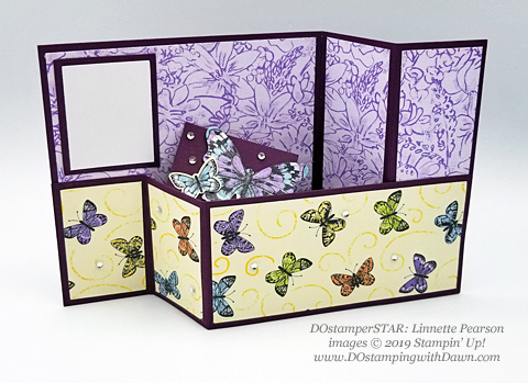 DOstamperSTARS share their creations!   #dostamping  #stampinup #handmade #cardmaking #stamping #papercrafting#DOstamperSTARS (Linnette Pearson - SAB Botanical Butterfly DSP)