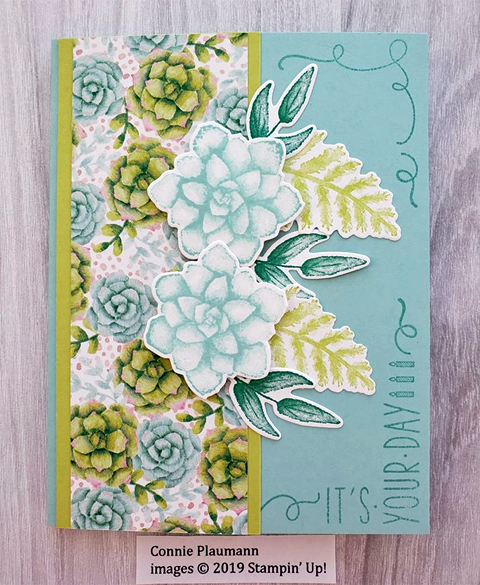 Stampin' Up! Sale-A-Bration Painted Season card shared by Dawn Olchefske #dostamping #howdshedothat #stampinup #handmade #cardmaking #stamping #papercrafting (Connie Plaumann)