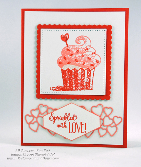 Sale-a-Bration Hello Cupcakes shared by Dawn Olchefske #dostamping #stampinup #handmade #cardmaking #stamping #papercrafting#hellocupcake #birthdaycards-KimPeck