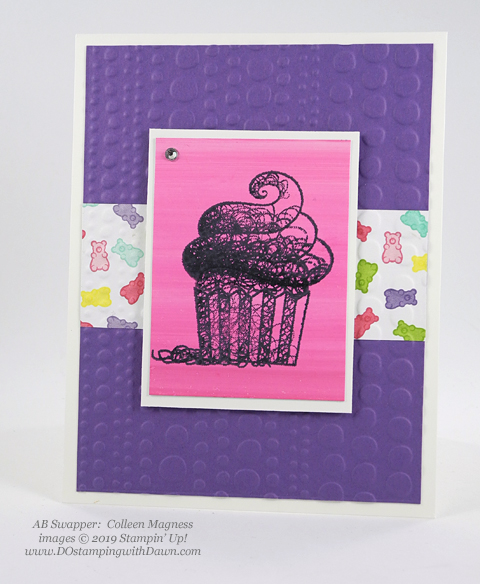 Sale-a-Bration Hello Cupcakes shared by Dawn Olchefske #dostamping #stampinup #handmade #cardmaking #stamping #papercrafting #hellocupcake #birthdaycards-CollenMagness