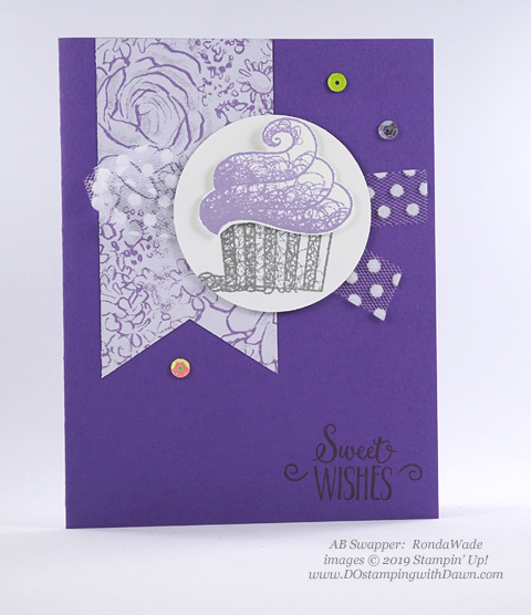 Sale-a-Bration Hello Cupcakes shared by Dawn Olchefske #dostamping #stampinup #handmade #cardmaking #stamping #papercrafting #hellocupcake #birthdaycards-RondaWade