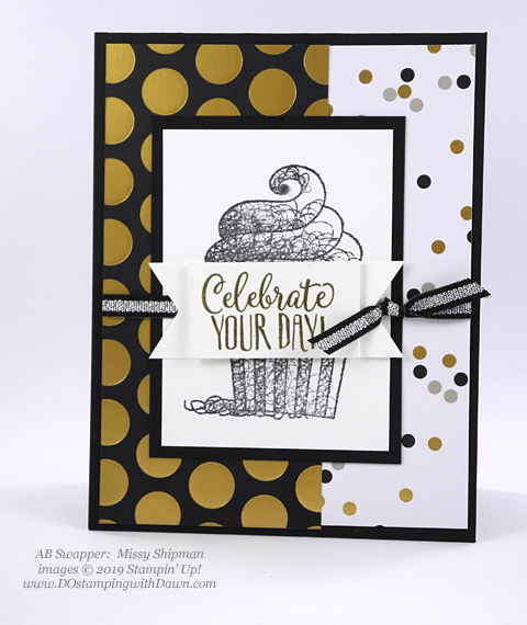 Sale-a-Bration Hello Cupcakes shared by Dawn Olchefske #dostamping #stampinup #handmade #cardmaking #stamping #papercrafting #hellocupcake #birthdaycards-MissyShipman
