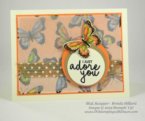 Stampin' Up! Botanical Butterfly Designer Series Paper shared by Dawn Olchefske #dostamping #howdshedothat #stampinup #handmade #cardmaking #stamping #papercrafting(Brenda Hillard)