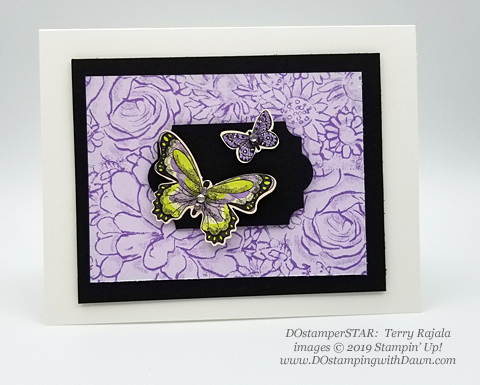 Stampin' Up! Botanical Butterfly Designer Series Paper shared by Dawn Olchefske #dostamping #howdshedothat #stampinup #handmade #cardmaking #stamping #papercrafting (Terry Rajala)
