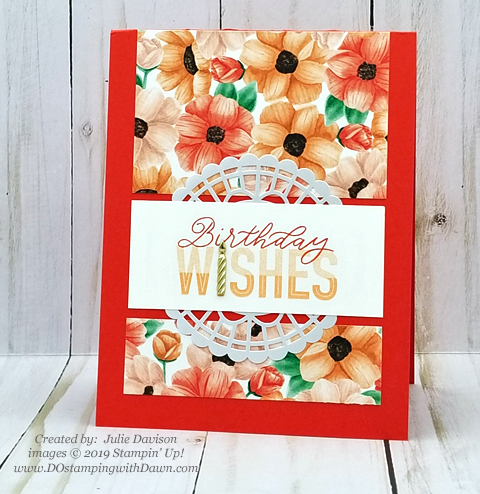 Sale-a-Bration Painted Seaons samples product shared by Dawn Olchefske #dostamping #howdshedothat #stampinup #handmade #cardmaking #stamping #papercrafting #paintedseasons - Julie Davison
