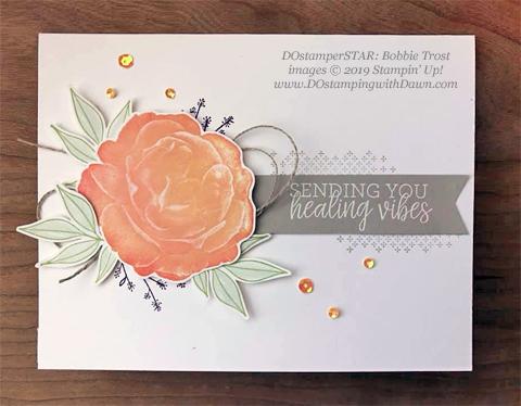 Healing Hugs - DOstamperSTARS Spring & Easter cards shared by Dawn Olchefske #dostamping #dostamperSTARSt #stampinup #handmade #cardmaking #stamping #papercrafting#eastercards - Bobbie Trost