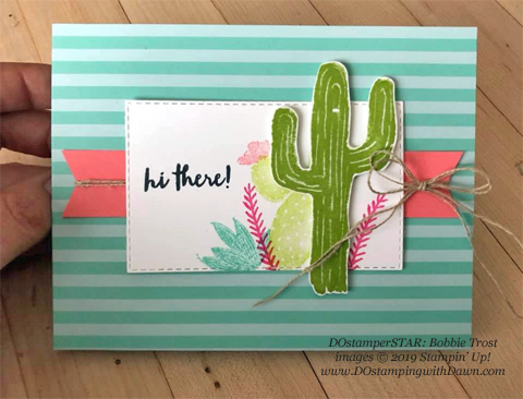 Flowering Desert - DOstamperSTARS Spring & Easter cards shared by Dawn Olchefske #dostamping #dostamperSTARSt #stampinup #handmade #cardmaking #stamping #papercrafting #eastercards - Bobbie Trost