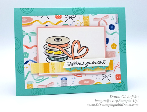 Follow Your Art Suite Make & Take from OnStage, shared by Dawn Olchefske #dostamping #stampinup #cardmaking #stamping #papercrafting  #ONSTAGE2019 #minneapolisonstage2019