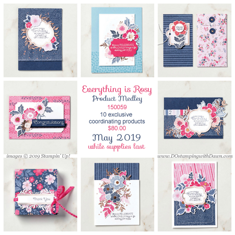 Everything is Rosy Product Medley, Stampin' Up! May Special  -  http://bit.ly/ShopEverthingisRosy #dostamping #howdshedothat #stampinup #handmade #stamping #papercrafting  #productmedley