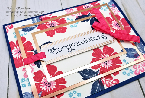 Triple Time Stamping with the Everything is Rosy Product Medley kit (available May 2019 only) shared by Dawn Olchefske #dostamping #howdshedothat #stampinup #cardmaking #papercrafting #everythingisrosy #tripletimestamping