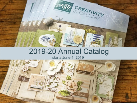 2019-2020 Stampin' Up! Annual Catalog starts June 4 #dostamping #stampinup #handmade #cardmaking #stampingsupplies #papercraftingsupplies