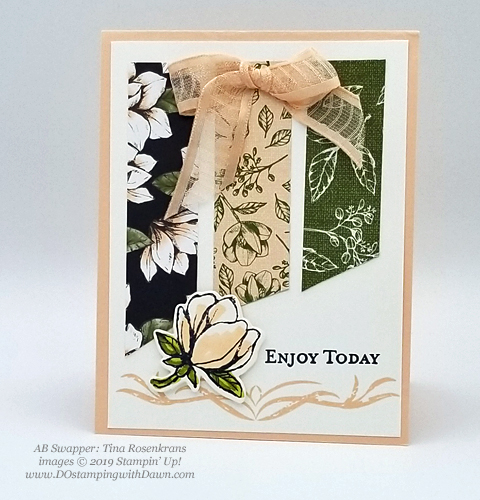 6 stunning Morning Magnolia samples - Magnolia Lane Suite from Stampin' Up! shared by Dawn Olchefske  #dostamping #stampinup #handmade #cardmaking #stamping #papercrafting  #morningmagnolia (Tina Rosenkrans)