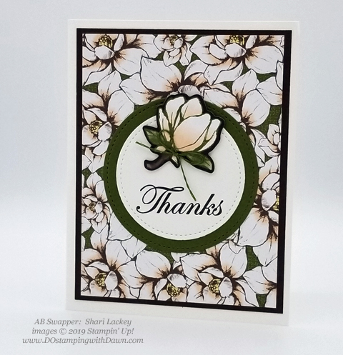 6 stunning Morning Magnolia samples - Magnolia Lane Suite from Stampin' Up! shared by Dawn Olchefske  #dostamping #stampinup #handmade #cardmaking #stamping #papercrafting  #morningmagnolia (ShariLackey)