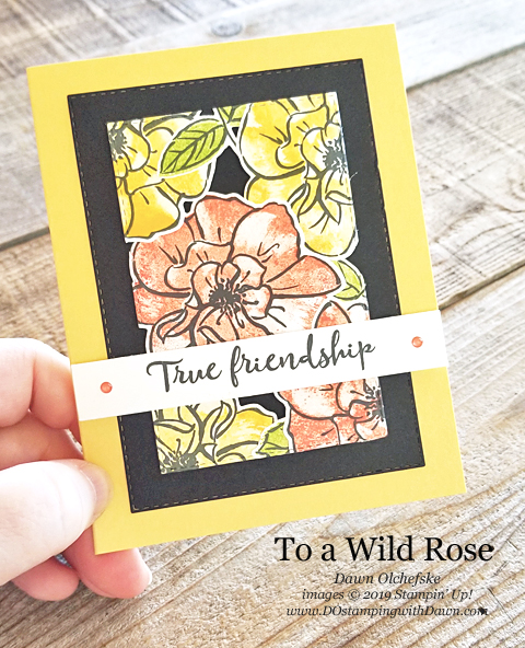 Floating Frame Technique using To a Wild Rose (from Stampin' Up) shared by Dawn Olchefske for Stamping with the STARS #DOswts317 #dostamping #dostamperstars #stampingtechnique #papercrafting #cardmaking #stampinup