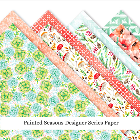 Painted Seasons Designer Series Paper - Sale-a-Bration FREE Choice, http://bit.ly/shopwithdawn #dostamping #stampinup