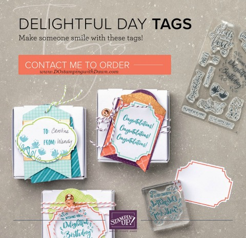 Stampin' Up! Experience Creativity Beginner Brochure | Delightful Day Tags shared by Dawn Olchefske  #dostamping #stampinup #handmade #cardmaking #stamping #papercrafting