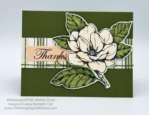 6 stunning Morning Magnolia samples - Magnolia Lane Suite from Stampin' Up! shared by Dawn Olchefske  #dostamping #stampinup #handmade #cardmaking #stamping #papercrafting#morningmagnolia #DOstamperSTARS (BobbieTrost)