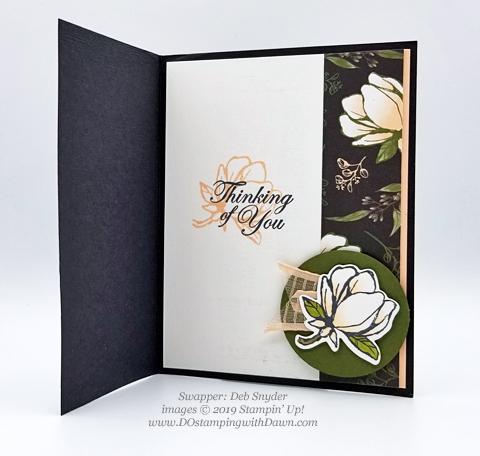 6 stunning Morning Magnolia samples - Magnolia Lane Suite from Stampin' Up! shared by Dawn Olchefske  #dostamping #stampinup #handmade #cardmaking #stamping #papercrafting#morningmagnolia (Deb Snyder)