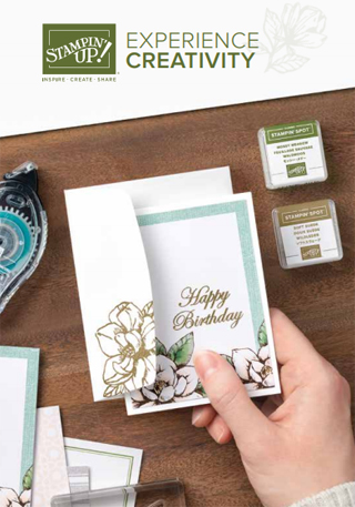 Are you a Beginning Stamper?  Then you'll enjoy the new Stampin' Up! Experience Creativity Brochure, designed just for you!  Dawn Olchefske, Stampin' Up! Demonstrator #dostamping #stampinup #experiencecreativity #cardmaking #stamping