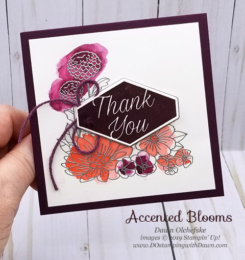 Accented Blooms Watercolor Wash card by Dawn Olchefske #dostamping #howdshedothat #stampinup #handmade #cardmaking #stamping #papercrafting