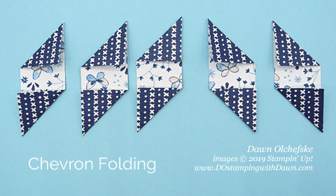 Chevron Folding Technique from Dawn Olchefske #dostamping