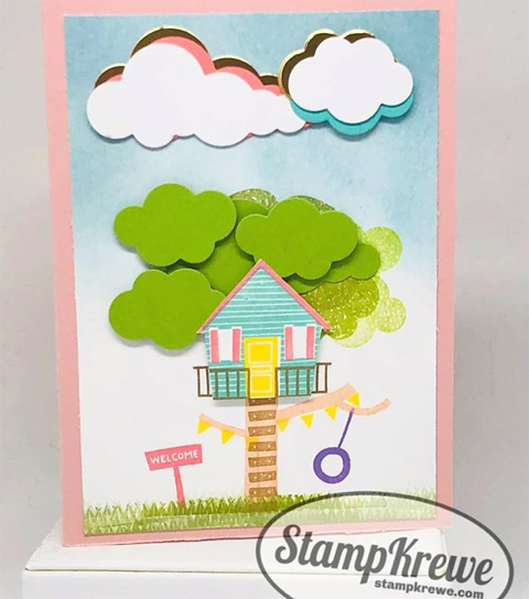 DOstamperSTARS share their creations!   #dostamping  #stampinup #handmade #cardmaking #stamping #papercrafting#DOstamperSTARS (Aimee Gravelle - Treehouse Adventure)