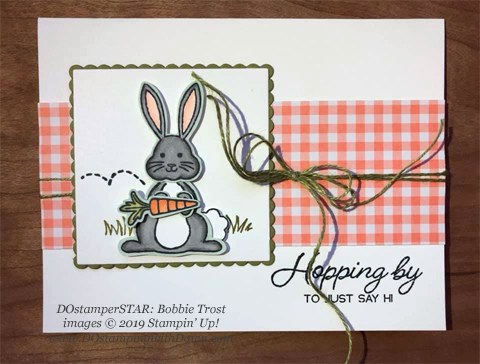 DOstamperSTARS share their creations!   #dostamping  #stampinup #handmade #cardmaking #stamping #papercrafting #DOstamperSTARS (Bobbie Trost - Best Bunny Bundle)