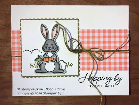 DOstamperSTARS share their creations!   #dostamping  #stampinup #handmade #cardmaking #stamping #papercrafting#DOstamperSTARS (Bobbie Trost - Best Bunny Bundle)