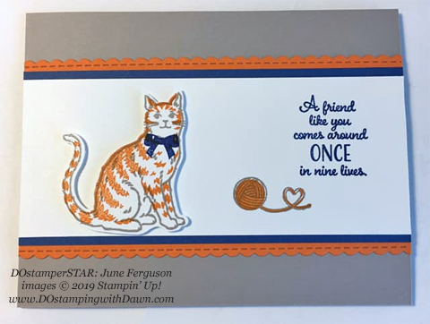 DOstamperSTARS share their creations!   #dostamping  #stampinup #handmade #cardmaking #stamping #papercrafting #DOstamperSTARS (June Ferguson - Nine Lives)