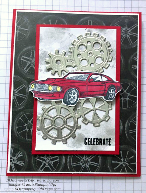 DOstamperSTARS share their creations!   #dostamping  #stampinup #handmade #cardmaking #stamping #papercrafting #DOstamperSTARS (Karla Larson - Geared Up Garage Bundle)