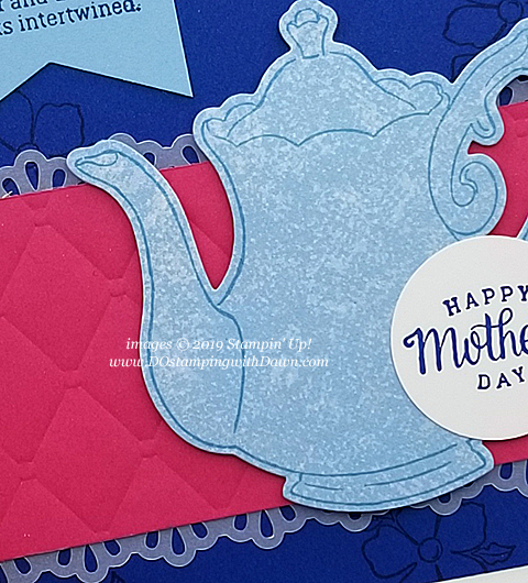Stampin' Up! Tea Together stamp set/Tea Time Framelits Dies (FREE Sale-a-Bration) shared by Dawn Olchefske #dostamping #howdshedothat #stampinup #handmade #cardmaking #stamping #papercrafting