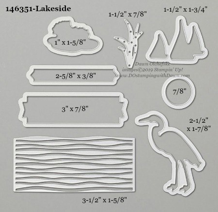 Stampin' Up! Lakeside Dies sizes shared by Dawn Olchefske #dostamping #stampinup #papercrafting #diecutting #stampindies