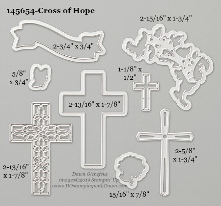 Stampin' Up! Cross of Hope Dies sizes shared by Dawn Olchefske #dostamping #stampinup #papercrafting #diecutting #stampindies