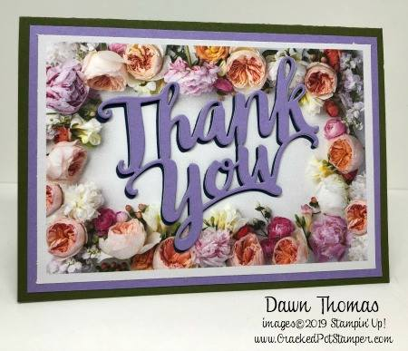Stampin' Up! Sale-A-Bration Petal Promenade Designer Series Paper card shared by Dawn Olchefske #dostamping #howdshedothat #stampinup #handmade #cardmaking #stamping #papercrafting (Dawn Thomas)
