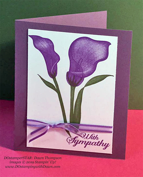 Stampin' Up! Sale-A-Bration Lasting Lily card shared by Dawn Olchefske #dostamping #howdshedothat #stampinup #handmade #cardmaking #stamping #papercrafting (Dawn Thompson)
