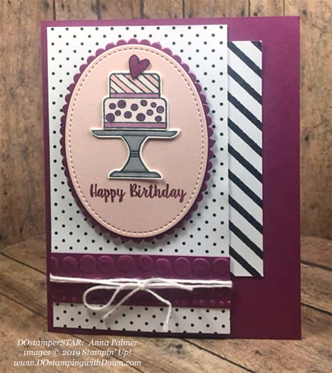 Stampin' Up! Sale-A-Bration Botanical Butterfly Designer Series Paper & Piece of Cake card shared by Dawn Olchefske #dostamping #howdshedothat #stampinup #handmade #cardmaking #stamping #papercrafting (Anna Palmer)
