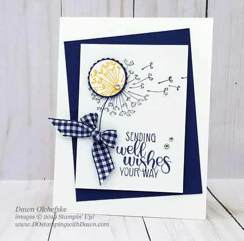 Spotlighting Technique using Dandelion Wishes byStampin' Up!, created by Dawn Olchefske #dostamping #howdshedothat #stampinup #handmade #cardmaking #stamping #papercrafting #DOswts311