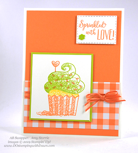 Sale-a-Bration Hello Cupcakes shared by Dawn Olchefske #dostamping #stampinup #handmade #cardmaking #stamping #papercrafting #hellocupcake #birthdaycards-AmyStorrie