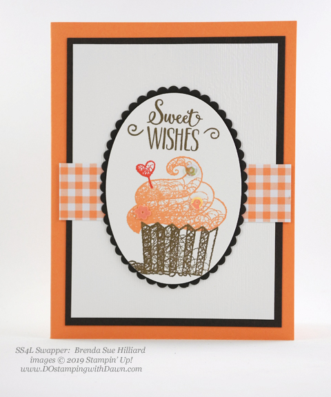 Sale-a-Bration Hello Cupcakes shared by Dawn Olchefske #dostamping #stampinup #handmade #cardmaking #stamping #papercrafting #hellocupcake #birthdaycards-BrendaSueHilliard