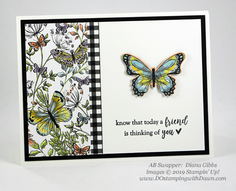 Stampin' Up! Botanical Butterfly Designer Series Paper shared by Dawn Olchefske #dostamping #howdshedothat #stampinup #handmade #cardmaking #stamping #papercrafting (Diana Gibbs)