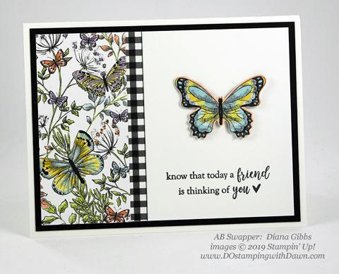 Stampin' Up! Botanical Butterfly Designer Series Paper shared by Dawn Olchefske #dostamping #howdshedothat #stampinup #handmade #cardmaking #stamping #papercrafting(Diana Gibbs)