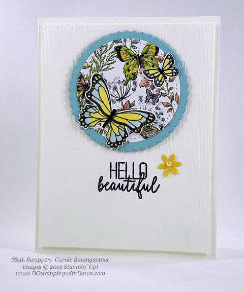 Stampin' Up! Botanical Butterfly Designer Series Paper shared by Dawn Olchefske #dostamping #howdshedothat #stampinup #handmade #cardmaking #stamping #papercrafting(Carole Baumgartner)
